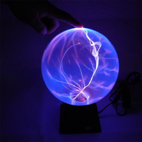 Tradeopia Corp Plasma Ball 6 Quot Blue